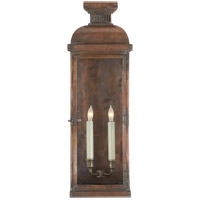 Visual Comfort E.F. Chapman Suffork 2 Light Outdoor Wall Lantern in Natural Copper CHO2065NC
