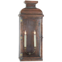 Visual Comfort E.F. Chapman Suffork 2 Light Outdoor Wall Lantern in Natural Copper CHO2066NC
