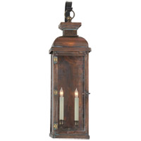 Visual Comfort E.F. Chapman Suffork 2 Light Outdoor Wall Lantern in Natural Copper CHO2067NC