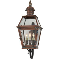 Visual Comfort E.F. Chapman Pimlico 3 Light Outdoor Wall Lantern in Natural Copper CHO2080NC