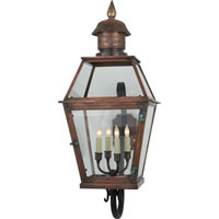 Visual Comfort E.F. Chapman Pimlico 4 Light Outdoor Wall Lantern in Natural Copper CHO2082NC