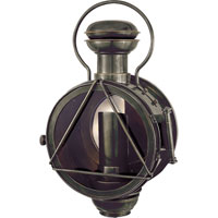 Visual Comfort E.F. Chapman French Conductor 1 Light Outdoor Wall Lantern in Bronze with Wax CHO2100BZ