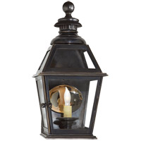 Visual Comfort E.F. Chapman Chelsea 1 Light Outdoor Wall Lantern in Bronze with Wax CHO2109BZ