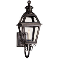 Visual Comfort E.F. Chapman Chelsea 1 Light Outdoor Wall Lantern in Bronze with Wax CHO2110BZ