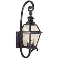 Visual Comfort E.F. Chapman Chelsea 3 Light Outdoor Wall Lantern in Bronze with Wax CHO2113BZ