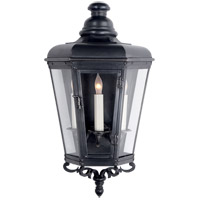 E.F. Chapman Menzel 3 Light 19 inch Blackened Copper Outdoor Wall Lantern, E.F. Chapman, Small, 3/4, Clear Glass