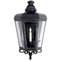 E.F. Chapman Menzel 3 Light 24 inch Blackened Copper Outdoor Wall Lantern, E.F. Chapman, Medium, 3/4, Clear Glass