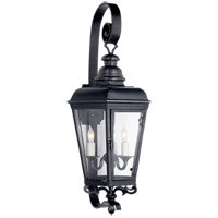 E.F. Chapman Menzel 3 Light 25 inch Blackened Copper Outdoor Wall Lantern, E.F. Chapman, Small, Clear Glass