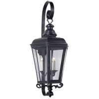 Visual Comfort E.F. Chapman Menzel 3 Light 32-inch Outdoor Wall Lantern in Blackened Copper, Medium, Clear Glass CHO2118BC-CG
