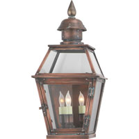 Visual Comfort E.F. Chapman Pimlico 3 Light Outdoor Wall Lantern in Natural Copper CHO2120NC