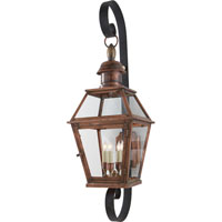 Visual Comfort E.F. Chapman Pimlico 4 Light Outdoor Wall Lantern in Natural Copper CHO2121NC