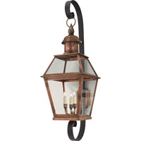Visual Comfort E.F. Chapman Pimlico 4 Light Outdoor Wall Lantern in Natural Copper CHO2122NC