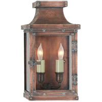 E. F. Chapman Bedford 2 Light 12 inch Natural Copper Outdoor Wall Lantern