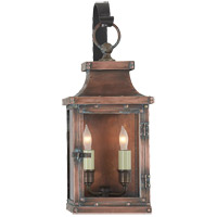 Visual Comfort E.F. Chapman Bedford 2 Light Outdoor Wall Lantern in Natural Copper CHO2151NC