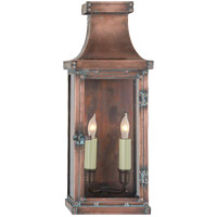 Visual Comfort E.F. Chapman Bedford 2 Light Outdoor Wall Lantern in Natural Copper CHO2152NC