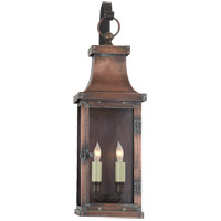 Visual Comfort E.F. Chapman Bedford 2 Light Outdoor Wall Lantern in Natural Copper CHO2153NC