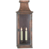 Visual Comfort E.F. Chapman Bedford 2 Light Outdoor Wall Lantern in Natural Copper CHO2154NC
