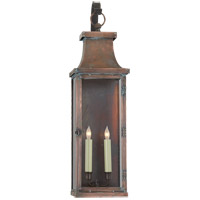 Visual Comfort E.F. Chapman Bedford 2 Light Outdoor Wall Lantern in Natural Copper CHO2155NC