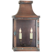 Visual Comfort E.F. Chapman Bedford 2 Light Outdoor Wall Lantern in Natural Copper CHO2156NC