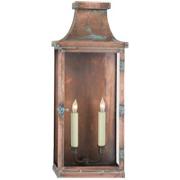 Visual Comfort E.F. Chapman Bedford 2 Light Outdoor Wall Lantern in Natural Copper CHO2157NC