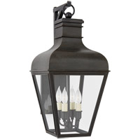 Visual Comfort CHO2160FR-CG Chapman & Myers Fremont 4 Light 21 inch French Rust Outdoor Bracketed Wall Lantern Small