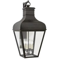 Visual Comfort CHO2162FR-CG Chapman & Myers Fremont 4 Light 36 inch French Rust Outdoor Bracketed Wall Lantern Large