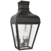 Visual Comfort CHO2164FR-CG Chapman & Myers Fremont 3 Light 18 inch French Rust Outdoor Wall Lantern Small