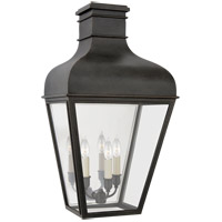 Visual Comfort CHO2165FR-CG Chapman & Myers Fremont 3 Light 24 inch French Rust Outdoor Wall Lantern Medium