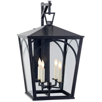 Visual Comfort E.F. Chapman Darlana 4 Light 21-inch Outdoor Wall Lantern in Bronze, Arc, Small, Bracket, Clear Glass CHO2185BZ-CG