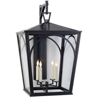 Visual Comfort E.F. Chapman Darlana 4 Light 28-inch Outdoor Wall Lantern in Bronze, Arc, Large, Bracket, Clear Glass CHO2187BZ-CG