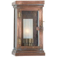 Visual Comfort E.F. Chapman Somerset 1 Light Outdoor Wall Lantern in Natural Copper CHO2222NC