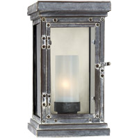 Visual Comfort E.F. Chapman Somerset 1 Light Outdoor Wall Lantern in Weathered Zinc CHO2222WZ