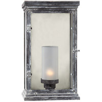 Visual Comfort E.F. Chapman Somerset 1 Light Outdoor Wall Lantern in Weathered Zinc CHO2224WZ