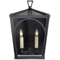 E.F. Chapman Darlana 2 Light 14 inch Bronze Outdoor Sconce, E.F. Chapman, Small, Arc, Clear Glass