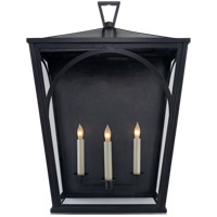 E.F. Chapman Darlana 3 Light 25 inch Bronze Outdoor Sconce, E.F. Chapman, Large, Arc, Clear Glass