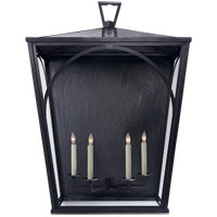 E. F. Chapman Darlana 4 Light 34 inch Bronze Outdoor Sconce, E.F. Chapman, XL,Arc, Clear Glass