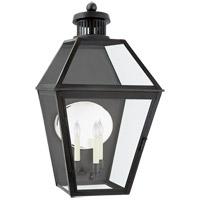 Visual Comfort CHO2375BC-CG Chapman & Myers Stratford 3 Light 33 inch Blackened Copper Outdoor Wall Lantern Large
