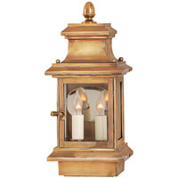 Visual Comfort Chart House Small Club Door Lantern in Antique-Burnished Brass CHO2401AB