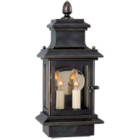 Visual Comfort E.F. Chapman Club 2 Light Outdoor Wall Lantern in Bronze with Wax CHO2401BZ