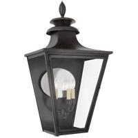 Visual Comfort CHO2416BC-CG Chapman & Myers Albermarle 3 Light 34 inch Blackened Copper Outdoor Wall Lantern, Large