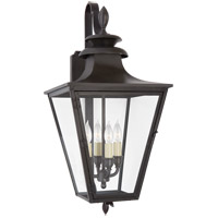 Visual Comfort CHO2421BC-CG Chapman & Myers Albermarle 4 Light 24 inch Blackened Copper Outdoor Bracketed Wall Lantern, Small