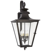 Visual Comfort CHO2422BC-CG E. F. Chapman Albermarle 4 Light 31 inch Blackened Copper Outdoor Bracketed Wall Lantern, Medium