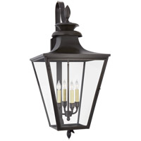 Visual Comfort CHO2423BC-CG Chapman & Myers Albermarle 4 Light 40 inch Blackened Copper Outdoor Bracketed Wall Lantern Large