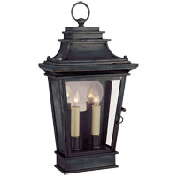 Visual Comfort E.F. Chapman Club 2 Light Outdoor Wall Lantern in Bronze with Wax CHO2500BZ