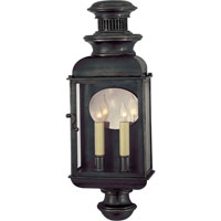 Visual Comfort E.F. Chapman Carriage 2 Light Outdoor Wall Lantern in Bronze with Wax CHO2600BZ