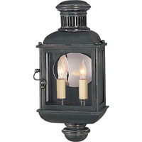 Visual Comfort E.F. Chapman Carriage 2 Light Outdoor Wall Lantern in Bronze with Wax CHO2601BZ