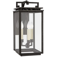 Visual Comfort CHO2611AI-CG Chapman & Myers Cheshire 3 Light 16 inch Aged Iron Outdoor Bracketed Wall Lantern, Small