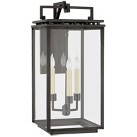 Visual Comfort CHO2612AI-CG Chapman & Myers Cheshire 3 Light 21 inch Aged Iron Outdoor Bracketed Wall Lantern, Medium