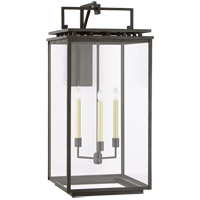 Visual Comfort CHO2614AI-CG Chapman & Myers Cheshire 3 Light 36 inch Aged Iron Outdoor Bracketed Wall Lantern, Grande