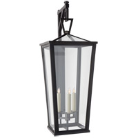 Visual Comfort CHO2790BZ-CG E. F. Chapman Darlana 3 Light 38 inch Bronze Outdoor Wall Lantern Grande Tall Bracketed
